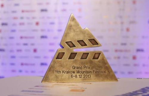 Statuetka Grand Prix Krakowskiego Festiwalu Górskiego - projekt Wojtek Kołek (fot. Wojtek Lembryk / KFG)